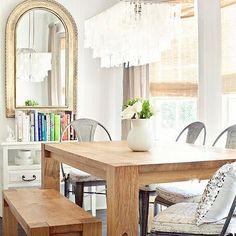 Large Rectangular Hanging Capiz Pendant, Transitional, kitchen, Milk and Honey Home