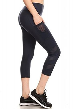 f2f35ab3155f87 Womens Yoga Capris Sports Leggings Activewear Bottoms With Mesh And Criss  Cross Straps Wholesale Clothing,