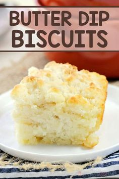 With no rolling or biscuit cutter required, these Butter Dip Biscuits are a cinch to make! Serve them alongside your favorite meals when you need an easy and delicious side dish. Side Dish Recipes, Bread Recipes, Baking Recipes, Soup Recipes, Side Dishes, Amish Recipes, Sweet Recipes, Easy Recipes, Main Dishes