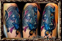 腕,ポートレートのタトゥーデザイン|タトゥーナビ