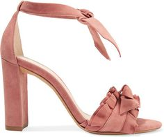 Alexandre Birman - Lupita Ruffle-trimmed Suede Sandals - Antique rose