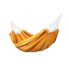 Single hammock Currambera apricot is made of pure, high-quality cotton. It is from Colombia, where hammocks have always been an essential part of everyday life. A typical characteristic of all hammocks manufactured in Colombia is the open-loop-suspension.