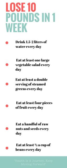 How to lose 10 pounds in a week : two fast weight loss tips that cause you to lose as much as 10 pounds in one week individually.