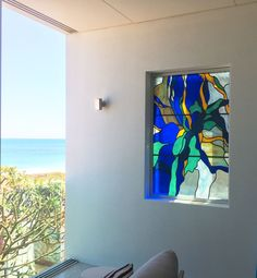 An abstraction of sea weed portrayed in stained glass for a client in San Remo, south of Perth. Kiln Formed Glass, Shattered Glass, Perth, Wind Chimes, Stained Glass, Glass Art, Glass Beads, Mason Jars, Vase