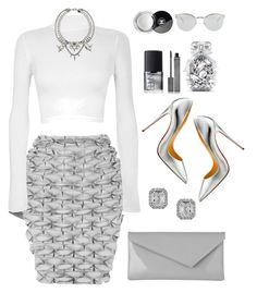 """""""Cold As Frost"""" by perichaze on Polyvore featuring J.W. Anderson, WearAll, Effy Jewelry, L.K.Bennett, Christian Louboutin, Victoria's Secret, Chanel, Burberry, NARS Cosmetics and Fendi"""