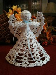 Crocheted Angel by Snydesigns on Etsy, $18.00