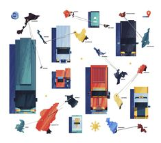Illustrations for Wander x APEC - Dan Matutina is Twistedfork