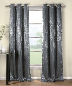 Charcoal Kempton Blackout Curtain Panel - Set of Two #zulily #zulilyfinds