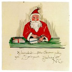 """1931 letter from J. Tolkien to his children. Every year he would send them a letter from """"Father Christmas"""" with an accompanying story and illustrations. Middle Earth Books, History Of Middle Earth, Hermann Hesse, Christmas Illustration, Illustration Art, Book Illustrations, Father Christmas Letters, Christmas Cards, Xmas"""