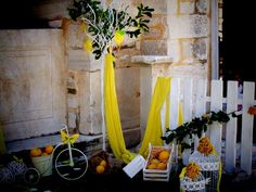 Lemon decoration # yellow # Βάπτιση με θέμα το λεμόνι