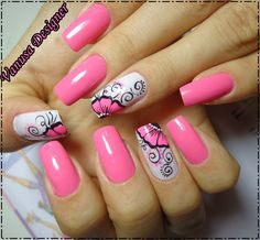 53 + Nail designs for young girls in 53 + Nail designs for young girls in 2019 - 1 In every teenager and girl wants to make the perfect manicure style to increase the beauty of thei. Nails Only, Get Nails, Pink Nails, Hair And Nails, Gorgeous Nails, Pretty Nails, Giraffe Nails, Acrylic Nail Art, Beautiful Nail Designs