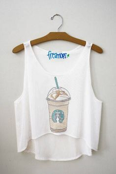 Carmel frappuccino Fresh-Tops Crop Top,I would so wear this in Rome.Lol!#monogramsvacation