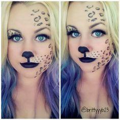 Cheetah/ leopard costume makeup tutorial