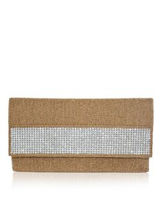 SOPHIE by designer Sobayha Accessories from sobayha.com. Beautiful all over beaded envelope clutch, with a dimonte strip on the flap.Available in Black, Gold & Silver & Off White. See more at: https://www.sobayha.com/catalogue/sophie_445/