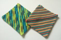 Crochet Hot Pad  Bright Hipster Pot Holders by afewlittlebumps
