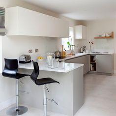 White modern breakfast bar | kitchen decorating ideas | Beautiful Kitchens | Housetohome.co.uk