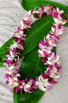 What we received on our arrival at the Old Lahaina Luau where we celebrated our  25th anniversary!