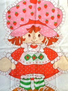 Cute Vintage 80s Strawberry Shortcake Cut N Sew  by CuteBrightFun, $14.00