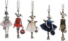 Servane Gaxotte doll pendants.