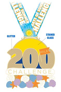 100 Days of Summer Challenge! Can you complete 200 miles in 100 days.