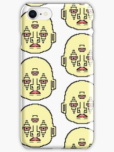 Pixel Face Third-Eye Simulation ' iPhone Case by proudnothing Cool Iphone Cases, 8 Bit, Third Eye, Iphone Se, Gift Ideas, Eyes, Cool Stuff, Face, Gifts