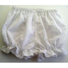 White Eyelet Baby Bloomer, 12 month