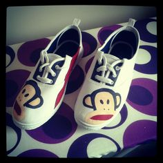 Hand painted Paul Frank sneakers! Love it!