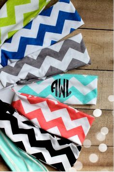 Monogram headbands from monogram it boutique
