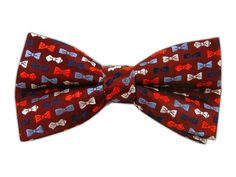 Bow Tie Guy - Burgundy/Blues (Bow Ties)  This bow tie has bow ties!