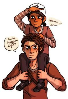 Luke and Clementine. The Walking Dead Telltale, Walking Dead Series, The Walking Dead 3, The Wolf Among Us, Twd Memes, Drawing Games, Shall We Date, Devil May Cry, Video Game Characters