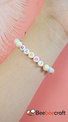Letter Bead Bracelets, Cute Bracelets, Beaded Bracelets, Beaded Jewelry, Handmade Jewelry, Seed Bead Bracelets Diy, Tassel Bracelet, Little Girl Jewelry, Kids Jewelry