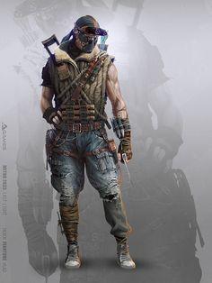 ArtStation - Red Spy, Vlad Tkach Metro 2033, Post Apocalypse, Apocalypse World, Apocalypse Fashion, Metro Last Light, Post Apocalyptic Costume, Post Apocalyptic Art, Character Concept, Character Art