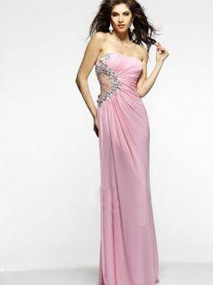 Pink Chiffon Formal Dress Evening Dress/ Prom Dress 2015 faviana 7317