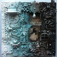 LuvLee Scrappin: My First Mixed Media Canvas Collage