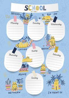 Schedule Design, Kids Schedule, School Schedule, Weekly Schedule, Study Schedule, To Do Planner, Study Planner, Planner Pages, Weekly Planner Template