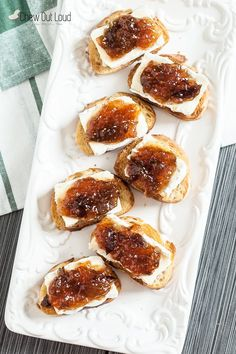 This Brie and Fig Crostini is super simple and absolutely delish. Sweet, salty, and crispy, it's the perfect party appetizer during the busy holiday season.