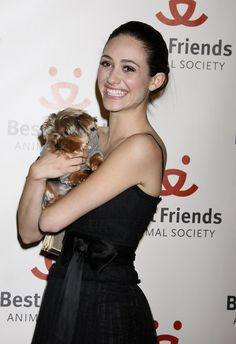 Emmy Rossum and her dog Cinnamon at the 15th Annual Lint Roller Party presented by the Best Friends Animal Society, Hollywood Palladium, Hollywood, CA.2008