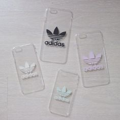 Transparent Hard Case Phone Case with Adidas Logo by Zoca .- Transparente harte Hülle Handyhülle mit Adidas-Logo von ZocanByZoe Transparent hard shell phone case with Adidas logo by ZocanByZoe -
