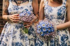 Wedding flowers don't only go in vases. Splash 'em all over your wedding party! Yes, my friends, it is time that we discussed the awesomeness that is the floral bridesmaid dress... click for more!!