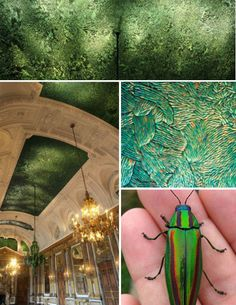 located in the Royal Palace in Brussels – is made up of an astonishing 1.6 million Thai jewel beetles. It took Flemish artist Jon Fabre and his team of 29 assistants four months to glue all the beetle shells in intricate patterns.