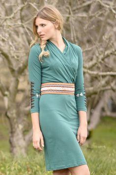 Synergy Organic Clothing Aztec Pema Dress in Aquamarine
