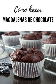 Cooking Without Oil, Cap Cake, Yummy Food, Tasty, Chocolate Muffins, Dessert Recipes, Desserts, Cakes And More, Food Dishes