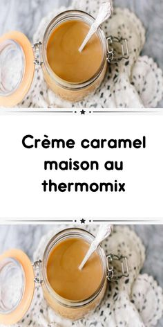 Homemade caramel cream with a smooth and delicious thermomix for your dessert. Creme Dessert Thermomix, Thermomix Desserts, Caramel Rolls, Caramel Dip, Creme Dessert Caramel, Homemade, Cooking, Recipes, Baguette