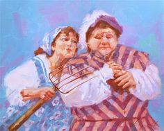 "Daily Paintworks - ""SCENE FROM OPERA FIGARO"" - Original Fine Art for Sale - © V Yeremyan"