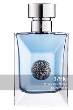 Versace pour Homme este un parfum proaspat si carismatic. Clasic dar modern parfumul intruchipeaza omul contemporan atat de increzator si intreprinzator care nu are nici o problema sa traiasca in armonie cu natura. Perfume Bottles, Modern, Beauty, Fragrance, Trendy Tree, Perfume Bottle, Beauty Illustration
