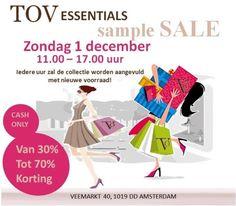 TOV Essentials Sample Sale! -- Amsterdam -- 01/12