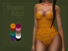 A sexy, new lace bodysuit for your simmies. Found in TSR Category 'Sims 4 Female Everyday'