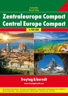 Central Europe, Compact Road Atlas, softcover by Freytag-Berndt und Artaria