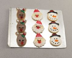 Dollhouse Miniature Christmas Cookies on Metal by miniholiday, $9.99