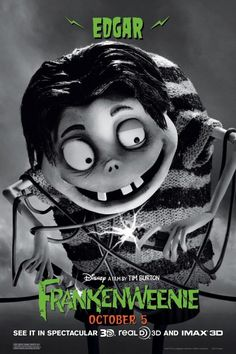 Edgar in Frankenweenie by Tim Burton 10.05.12 #frankenweenie #timburton #animation